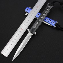 NEW SWISS Survival Camping Knives Pocket Folding Blade Knife Tactical Hunting Knife With Nylon Sheath Outdoor Tool Free Shipping