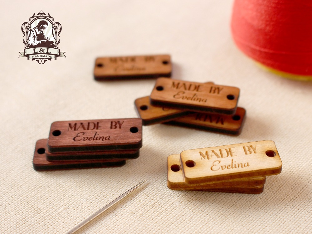 Wooden Tags, Wooden Clothing Labels, Sew On Garment Labels, Personalized Label Tags,labels For Handmade Products (WDBQ02)