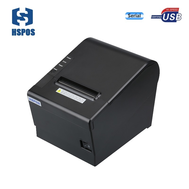 Thermal printer for pos system 80mm with cash drawer interface support usb and serial with auto-cutter 15 inch android all in one pos system dual screen touch cash register and 80mm thermal printer and 410mm pos cash drawer