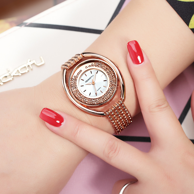 2018 Women Watch Luxury Brand Fashion Casual Ladies Gold Watch Rhinestone Quartz Clock Relogio Feminino Reloj Mujer Montre Femme top ochstin brand luxury watches women 2017 new fashion quartz watch relogio feminino clock ladies dress reloj mujer