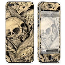 Free drop shipping Number design vinyl skin sticker for Apple iPhone 5 5S #TN-i5S-0927