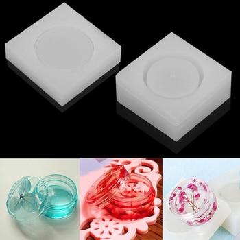 Runde Silikon Lagerung Box DIY Ton Form Harz Form Kristall Epoxy Schmuck Mould Casting Handwerk Handmade