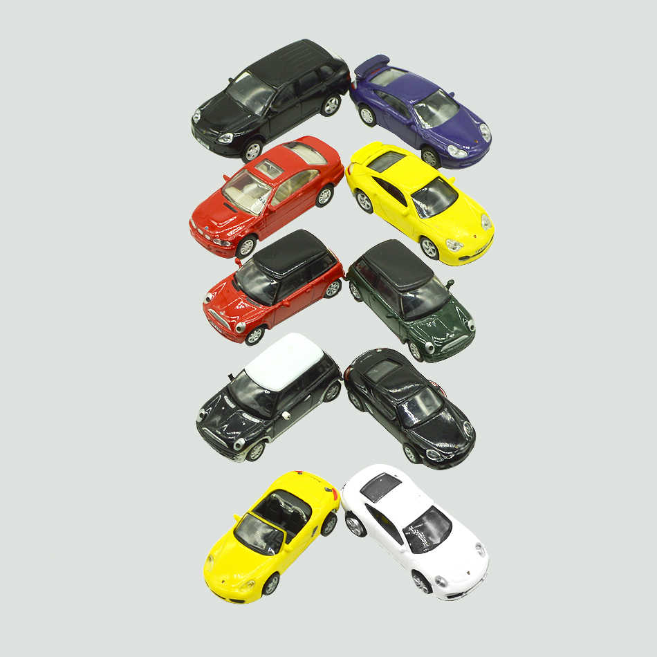 HO scale Toy Car Metal Alloy Diecast Car Model Miniature Scale model and Light Model Car Toys For Architectural model making