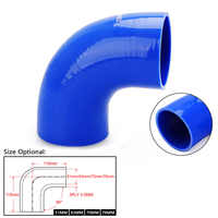 "CNSPEED Universal 2,0 ""2,5"" 2,75 ""3""/51mm 63mm 70mm 76mm 90 grados codo silicona manguera tubo Turbo tubo de admisión par manguera"