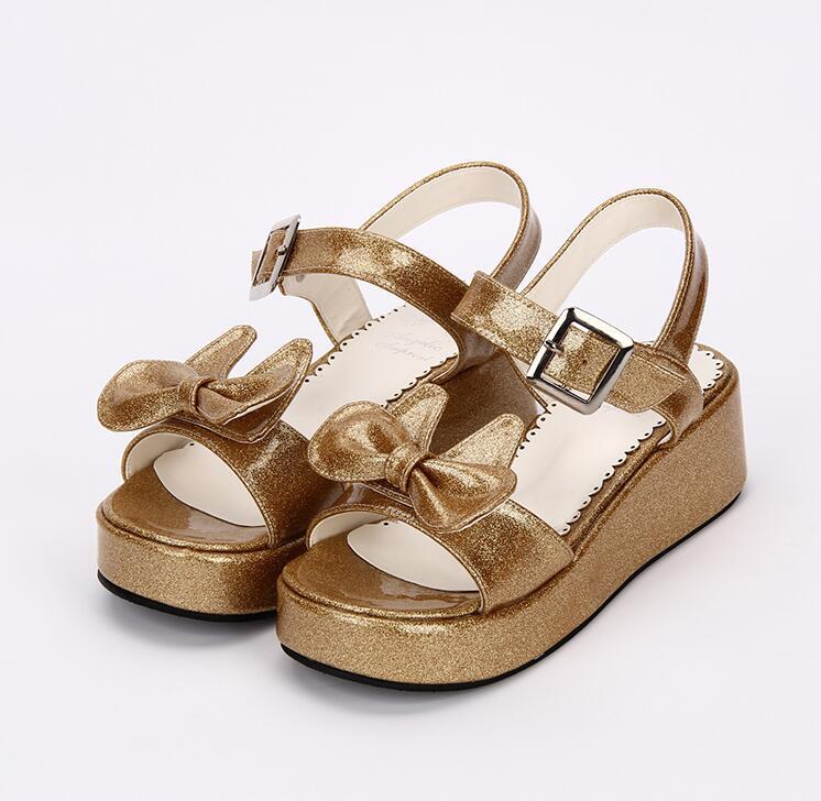 Bombas Verano 47 Señora Cm Sandalias Cuñas Mujer Angelical Negro Mori Zapatos 5 33 Vestido Chica Lolita blanco Cosplay Imprimir Tacones Mujeres Princesa De UqZwPq0