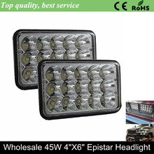 Cheap Price Offroad High Low Beam 45w LED Head light led driving light 6inch square headlamp 4x6 headlights for Trucks Off road