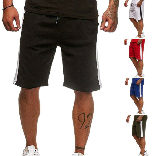 Stylish Hot Sale Simple Men Summer Casual Loose Letter Pocket Shorts Jogging Training Sport Gym Workout Knee-length Shorts M-XXL
