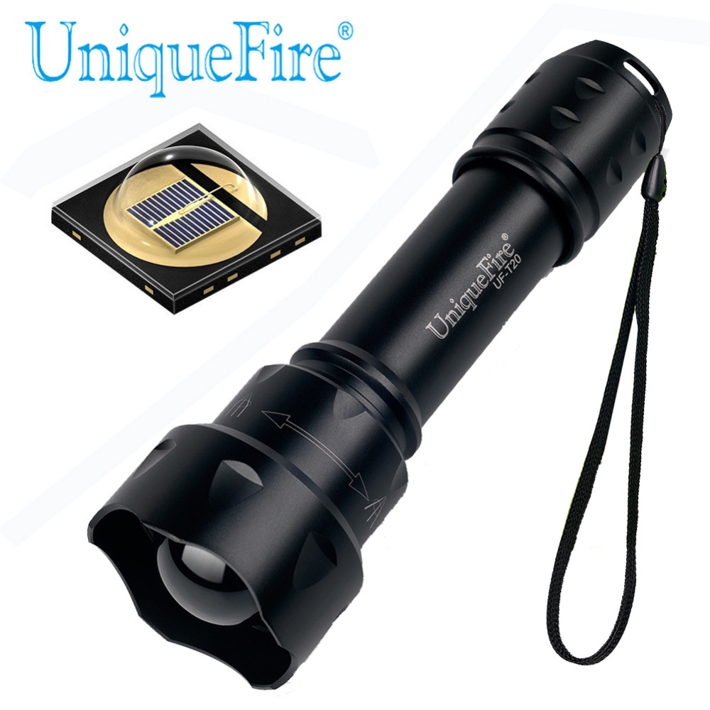 UniqueFire T20 OSRAM IR 850NM Flashlight 38mm Lens Zoomable Adjustable Focus Infrared Light Night Vision 3 Modes for Hunting