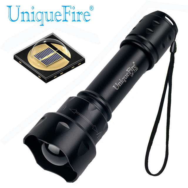 UniqueFire T20 OSRAM IR 850NM LED Flashlight 38mm Lens Zoomable Adjustable Focus Infrared Light Night Vision 3 Modes for Hunting