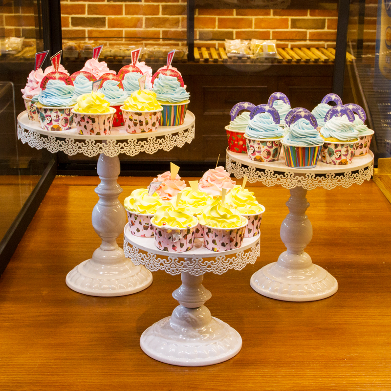 (3pcs) Wedding Party Metal Cake Stand Cupcake Stands with Crystals