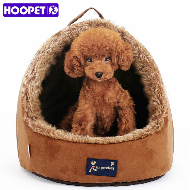 HOOPET Pet Cat Dog Puppy Suede Tent Bed With Double Sided Plush Cushion Waterproof Bottom House  sc 1 st  AliExpress.com : dog pup tent - memphite.com