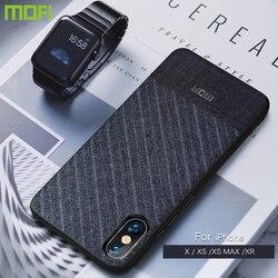 Para o iphone xs max caso para o iphone xs caso para o iphone xr caso capa mofi xs max voltar capa ipx negócio terno pano estilo tecidos