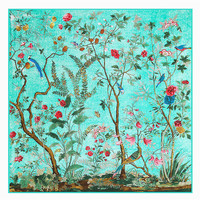 2016 New Arrival Luxury Brand Autumn Winter 100 Twill Silk Square Scarves Flowers Scarf Bird Wraps