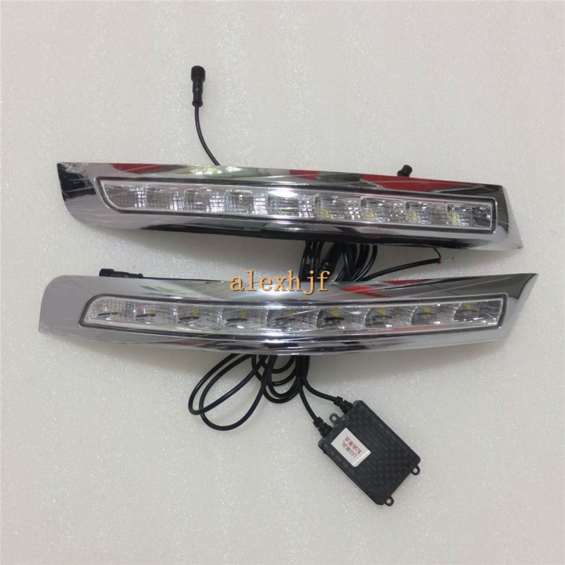July King LED Daytime Running Lights DRL, LED Front Bumper Fog Lamp case for VOLVO XC90 2007~13, 1:1 Replacement, Fast Shipping july king led daytime running lights drl case for honda crv cr v 2015 2016 led front bumper drl 1 1 replacement