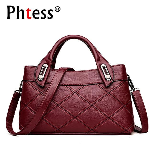 2018 Luxury Handbags Women Bags Designer Brand Famous Female Crossbody Leather Shoulder Bags Vintage Ladies Tote Bags Sac a Main