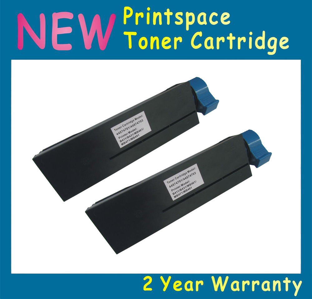 2x NON-OEM Toner Cartridges Compatible For OKI B401 B401DN MB441 MB451 44992402 44992401 (2500Pages) Free Shipping 44992402 44992404 toner cartridge chip for oki data b401d mb441 mb451 okidata b401 441 mb 451 b 401d laser powder refill reset