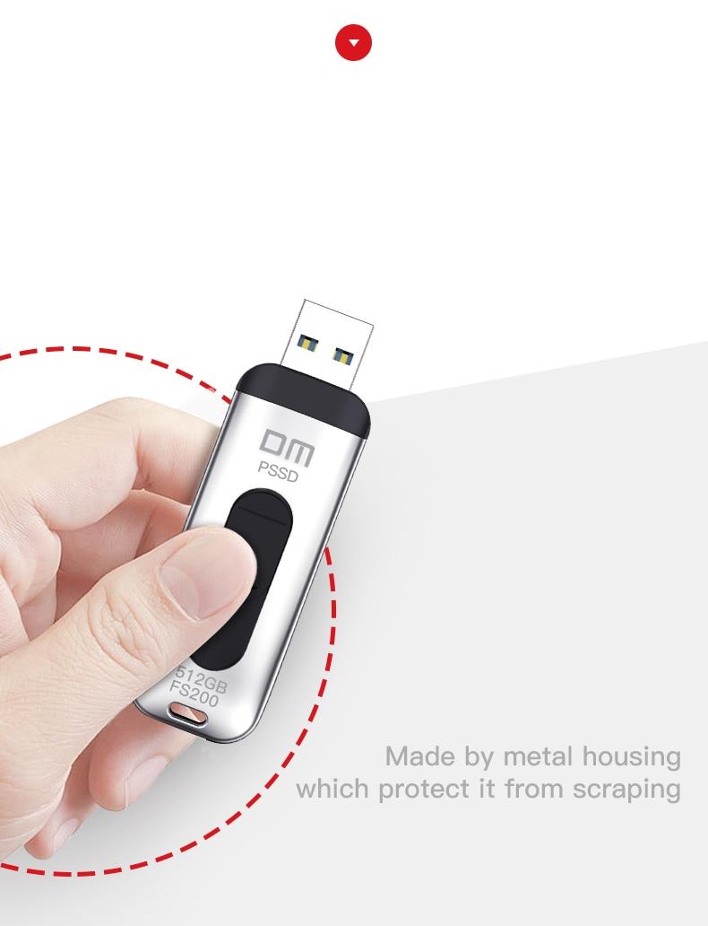 External Portable SSD 128GB 256GB