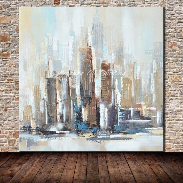 Mintura Hand Gemalt New York Stadt Ölgemälde Auf Leinwand Moderne Abstrakte  Wand Kunst Bilder Für Wohnzimmer