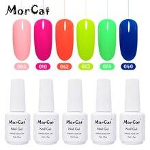 MorCat 6 PCS Nail Gel Polish UV Varnish Manicure Soak Off Art Vernis Semi Permanant