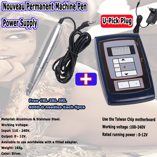 2016 New  Permanent Makeup Machine pen for Eyebrow Make up Kits &Lips Rotary Swiss Motor Tattoo Machine Kit Free Shipping top motor aluminum permanent makeup rotary tattoo machine pen for cosmetics eyebrow lips free shipping