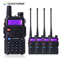 Zastone ZT-V8 Portable Walkie Talkie For Hunting Radio Station Dual Band VHF UHF Frequency Handheld Two Way Radio Communicator