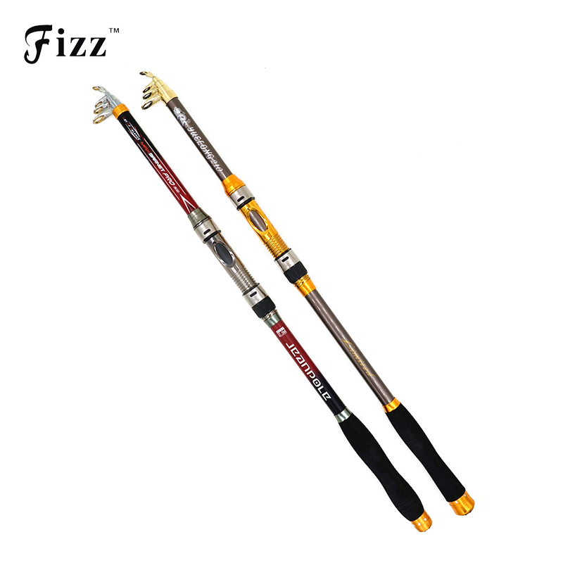 High Performance Carbon Fiber Telescopic Fishing Rod Eksklusiv Quality Sea Fishing Pole Tackle 2.1 / 2.4 / 2.7 / 3.0 / 3.6m Lav pris