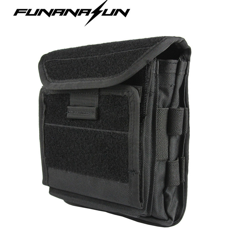 1000D Molle Men Tactical Admin Magazine Storage Pouch Pistol Gun Holster Bag EDC Utility Accessory Pack Mag Map Flashlight Bag mini kompas sleutelhanger