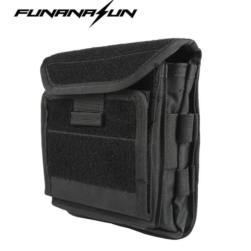 1000D Molle Men Tactical Admin Magazine Storage Pouch Pistol Gun Holster Bag EDC Utility Accessory Pack Mag Map Flashlight Bag