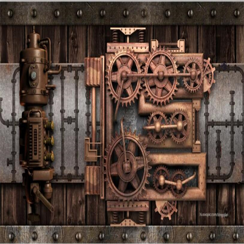 Us 855 43 Offbeibehang Hudas Beauty Fashion Art Tooling Wind Mechanical Gear Wallpaper Decoration Living Room Background Papel De Parede In