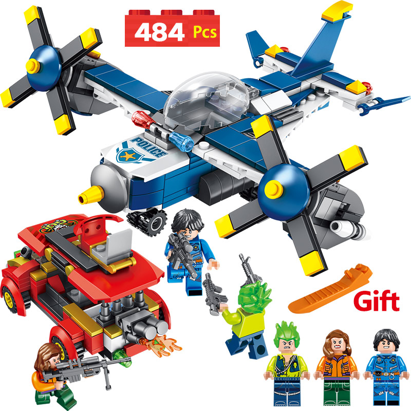City Police Series Compatible LegoINGLYS Military Pirate Helicopter Blocks Mini Action Figures Bricks Enlightening Toys For Boy legoinglys military 35pz city police