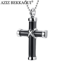 AZIZ BEKKAOUI Stainless Steel Cross Ash Holder Necklace Shell Hard Urn Cremation Mini Pendant Necklace Memorial Jewelry(China)