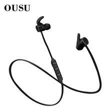 OUSU Magnetic Earphone Sport Wireless Bluetooth 5.0 Noise Canceling Earbuds Handsfree Earpiece auriculares
