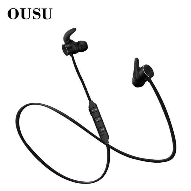 OUSU Magnetic Earphone Sport Wireless Earphone Bluetooth 5.0 Noise Canceling Wireless Earbuds Handsfree Earpiece auriculares