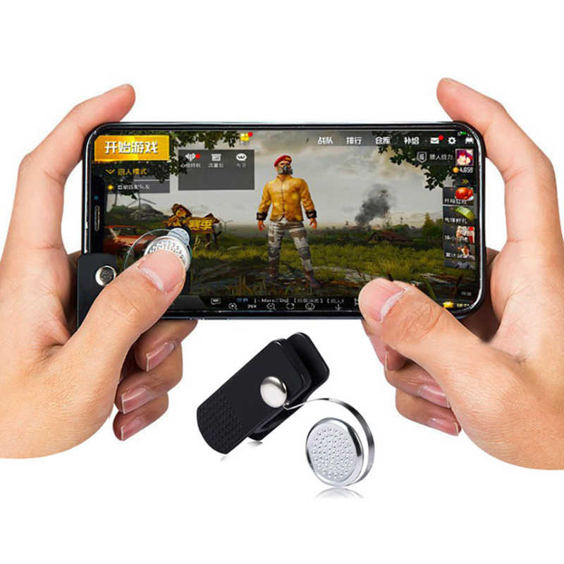 Universal Clip-on Game Joystick Assist Tool Phone Tablet Shooting Games For PUBG STG FPS Gamepad Adapter Touch Screen Controller