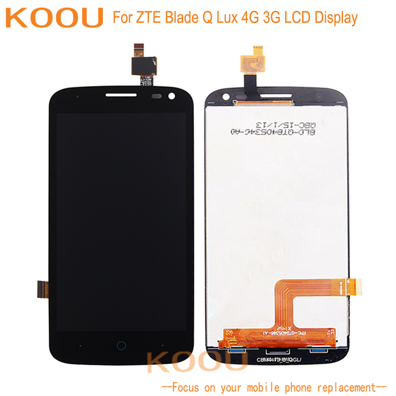 LCD Display For ZTE Blade Q Lux 4G 3G Touch Screen Digitizer Assembly Replacement For ZTE Blade Q Lux 4G 3G Touch Panel LCDSLCD Display For ZTE Blade Q Lux 4G 3G Touch Screen Digitizer Assembly Replacement For ZTE Blade Q Lux 4G 3G Touch Panel LCDS