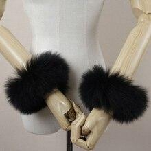 The new winter women scarf  Real Genuine high quality raccoon fox fur cuffs cuff