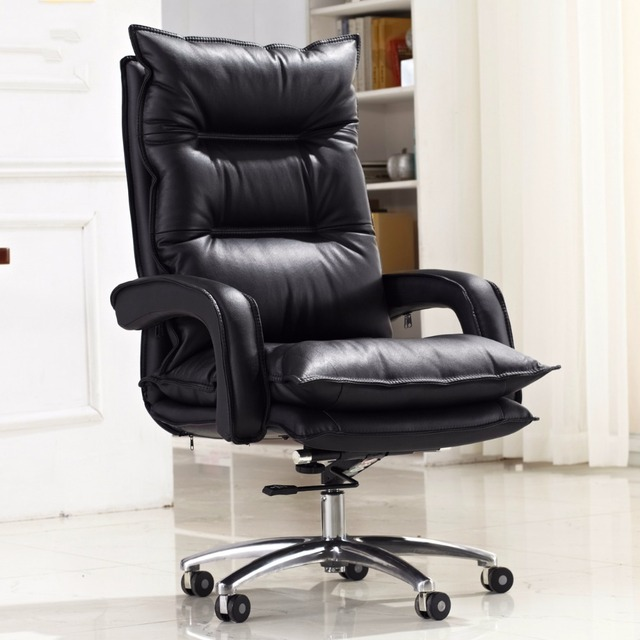 comfortable home office chair summer infant wood high quality super soft computer swivel lifting double thickness boss seat