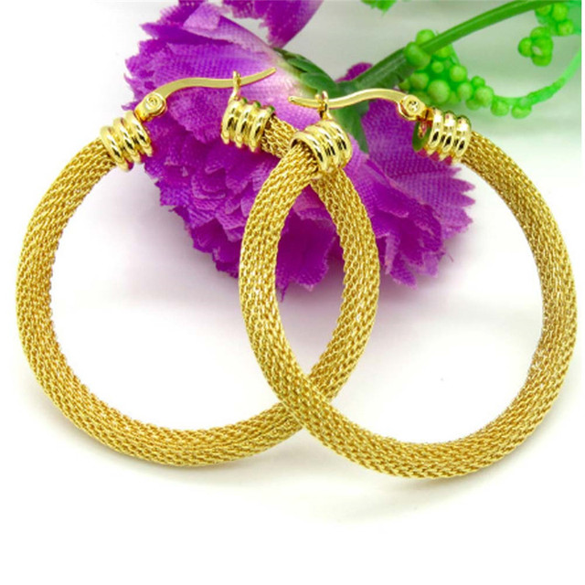 Stainless Steel Hoop Earring Classic Style Fashion Female Cloth Accessories  2017