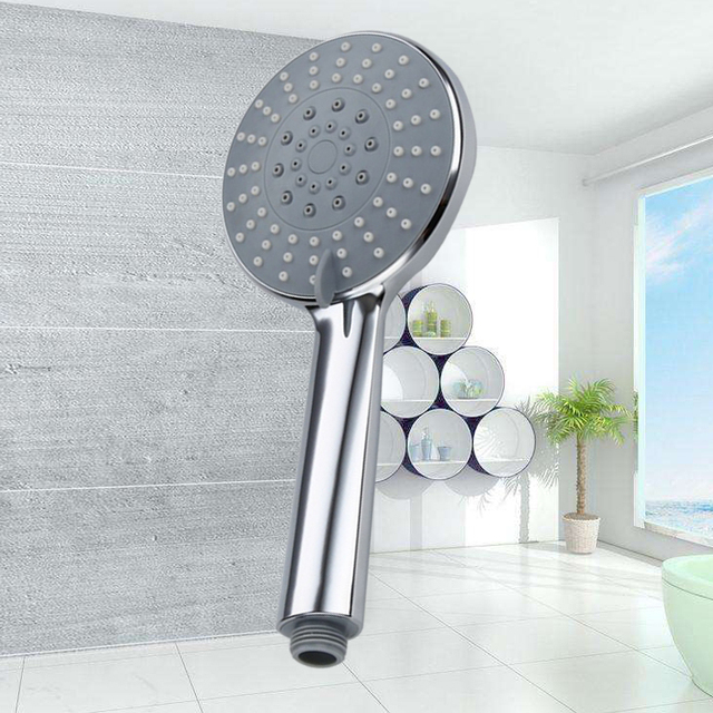 Beautiful Misty Hand Hold Shower Rainfall Handled Shower ABS Chrome Showerhead Can Adjustable Functions Bathroom Showers For Your House - Minimalist bathroom shower heads Unique
