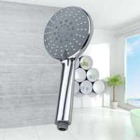 Misty Hand Hold Shower Rainfall Handled Shower ABS Chrome Showerhead Can Adjustable Functions Bathroom Showers