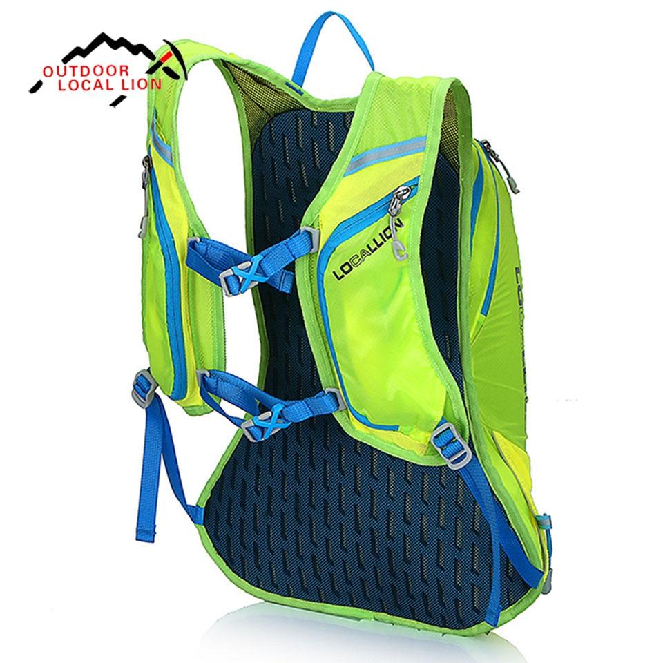 LOCAL LION Local Lion Men Women outdoor sport Backpack Bag 15 L Waterproof Hiking Trail Running Travel Bags Rucksack