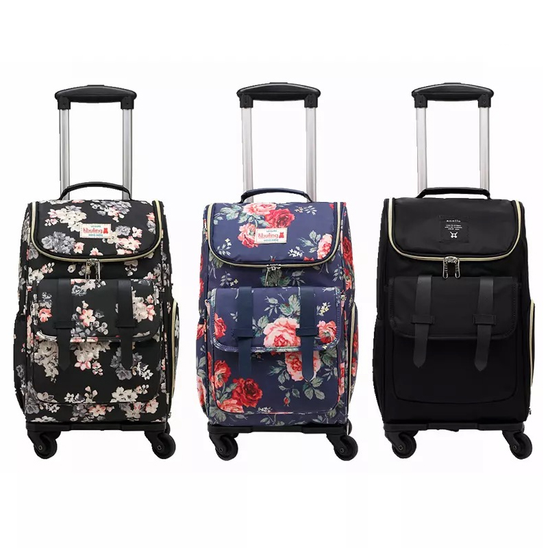 Backpack Trolley-Bag On-Wheels Suitcases Women Girl New Hot Detachable Dual-Purpose