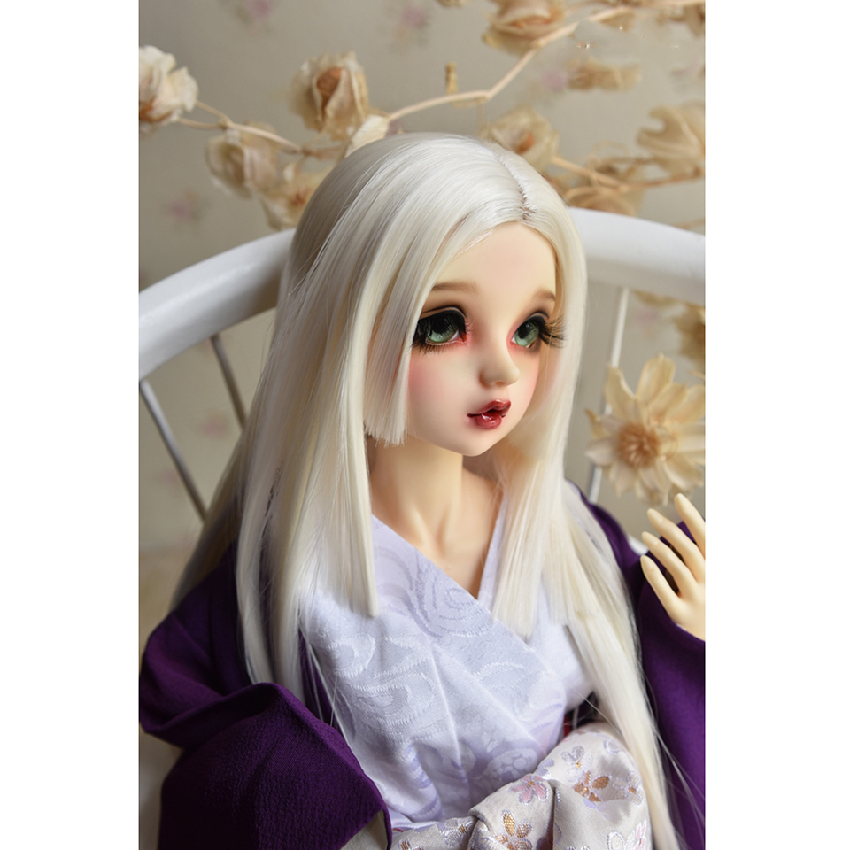 Bybrana Bjd Wig Sd Dolls High Temperature Fiber Girl Baby Hair Super Elegant And Wind In Three Knife Level 1/3 1/4 1/6