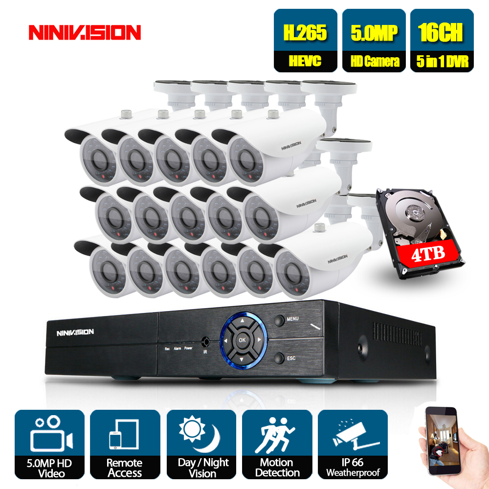 5MP 16CH Surveillance System 16 5.0MP Outdoor Security Camera 16CH CCTV DVR Kit Video Surveillance iPhone Android Remote View5MP 16CH Surveillance System 16 5.0MP Outdoor Security Camera 16CH CCTV DVR Kit Video Surveillance iPhone Android Remote View
