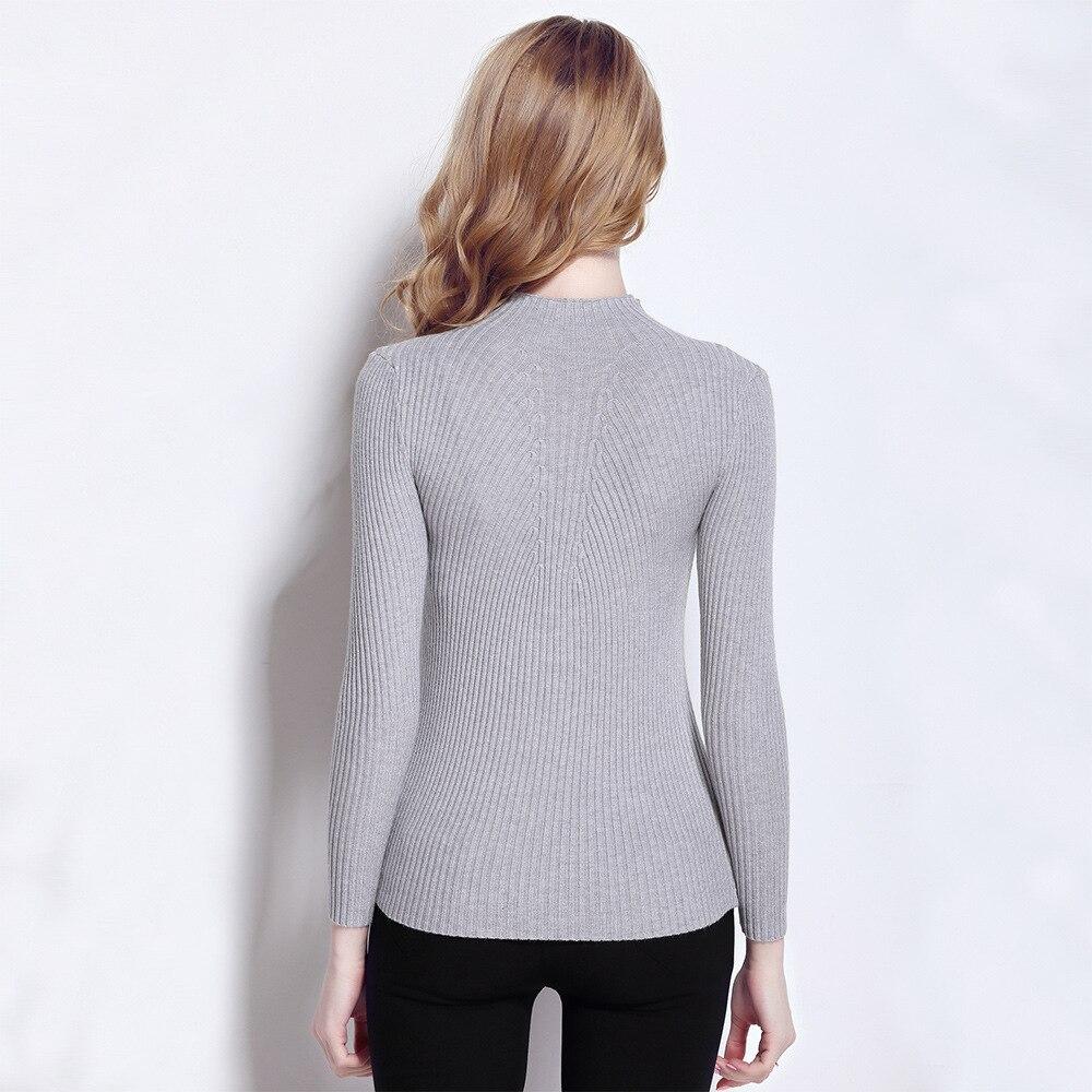 Hochwertige Kaschmir Winter Pullover Pullover mit hohem Kragen - Damenbekleidung - Foto 5