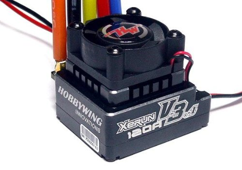 HOBBYWING XeRun 120A V3.1 RC Brushless Motor ESC Speed Controller for 1/12th Touring Car Competitions for 1/10th, 1/12thTouring