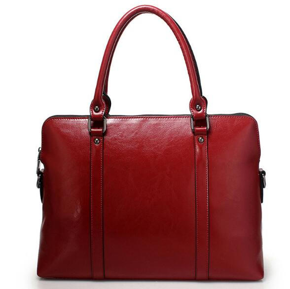 14 Inches Cow Skin Soft Large Briefcase Business Bag For Women