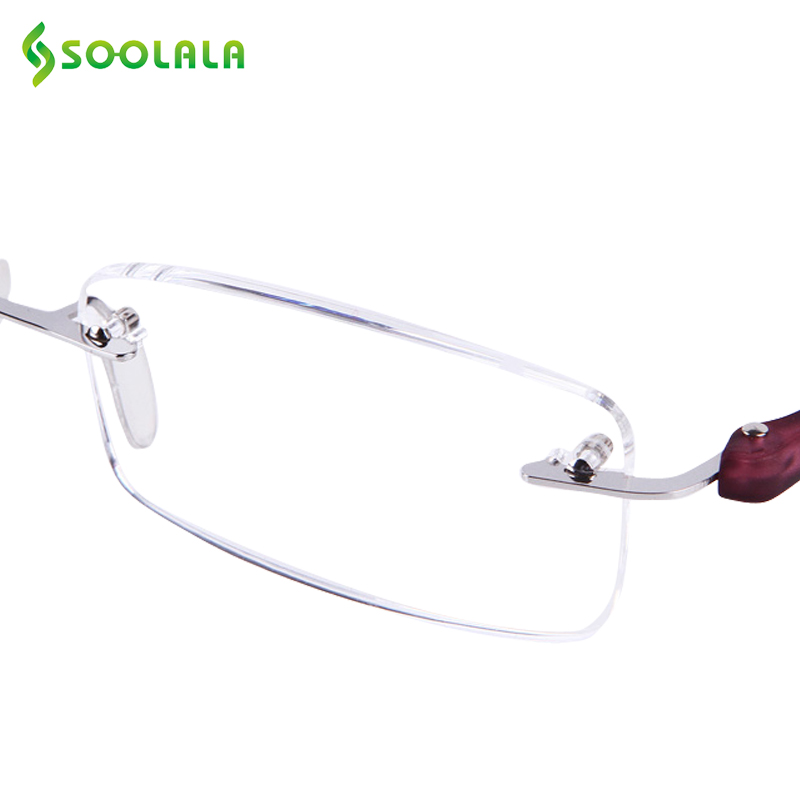 d95fbeda824 SOOLALA Wood Bamboo Rimless Frame Magnifying Reading Glasses +1.0 +1.5 +2.0  +2.5 ...