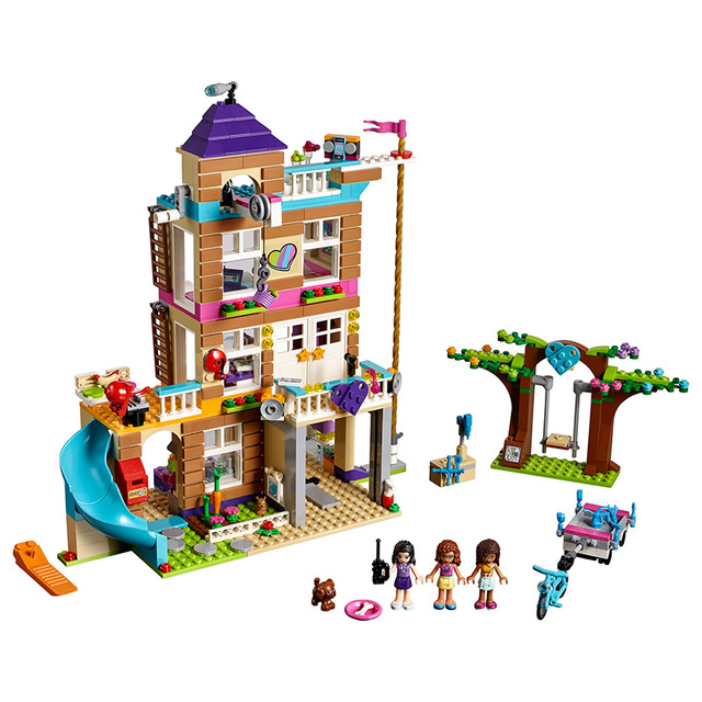 IN stock Girls Series Toys 808Pcs The Friendship House Set Building Blocks Bricks toys Compatible LegoNGLY Friends 41340 808pcs diy new girls series the friendship house set building blocks bricks friends toys for children compatible legoingly 41340