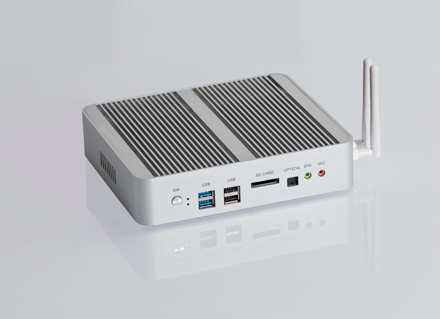 Image 4 - New KabyLake Intel Core i5 7260U 3.4GHz Fanless Mini PC Optical port 2*lan Intel Iris Plus Graphics 640 DDR4 Barebone Computer